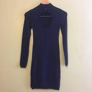 GUESS Mock Neck Sweater Dress